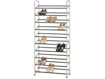 M-HOME Portant métallique pour chaussures - 88x25x8 cm - Couleur métal