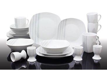 T1810503-40X - Service de table 40 pièces Nina - Porcelaine - Gris