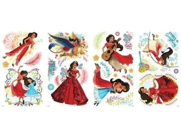 ROOMMATES Stickers DISNEY PRINCESS - PRINCESS ELENA repositionnables 4 feuilles de 10,1cm x 44,1cm (Lot de 2)