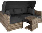 Canapé de jardin SAINT MARIN modulable - marron naturel
