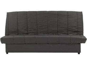 Banquette clic clac 3 places - Tissu gris - L 190 x P 92 x H 93 cm - MILA