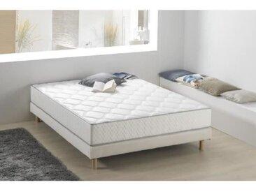 Matelas ressorts et mousse 160 x 200 - Confort équilibré - Epaisseur 24 cm - Fabrication européenne - DEKO DREAM Nahka