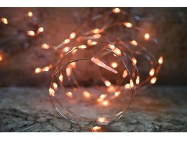 Guirlande micro-LED - 7,5 m - Orange - 150 LED - 16 fonctions mémoire - Câble transparent cuivré