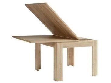 Table à manger extensible - 6-8 personnes - Style contemporain - Décor chêne - L 96-190 x l 95 cm