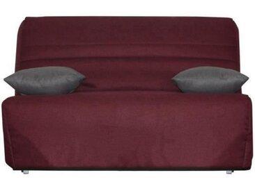 OPS 100% FRANCAIS - GALA Banquette BZ - Tissu Bordeaux - Couchage quotidien - L142 x P96 x H90 cm