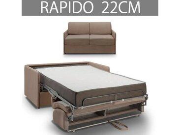 COLOSSE Canapé lit RAPIDO Inside75 - Epaisseur 22 cm - Velours taupe