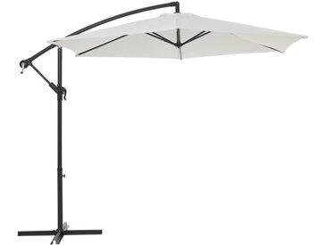 Parasol déporté diamètre 3m - structure en aluminium avec toile polyester 180g- White -  Tohota