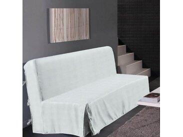HOMETREND Housse de clic clac Graphite - 200 x 140 cm - Blanc