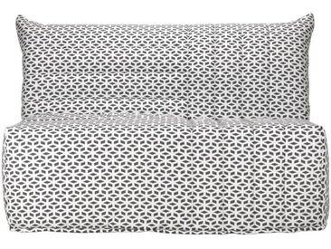 COMFORT BULTEX Banquette BZ 3 places - Tissu noir et blanc - Made in France - L 142x P 101 cm - BECCI