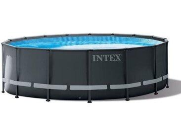 INTEX Kit Piscine ronde tubulaire Ultra Frame - 4,88 x 1,22 m