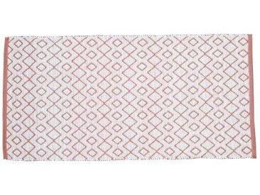 SOLYS Tapis d'extérieur - PVC - 140 x 70 cm - Marron safran