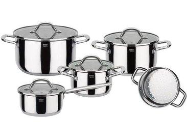 GSW Meran - Batterie de cuisine 9 pièces en acier inoxydable - Tous feux dont induction