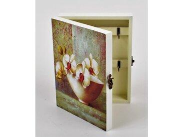 ORCHIDEE boite à clés décorative - 19x5.5x25cm