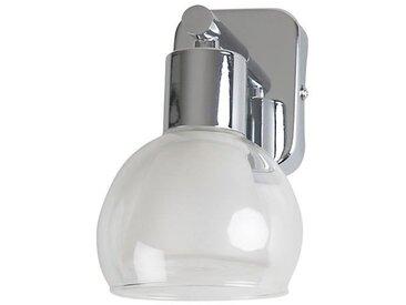 PEARL-Applique de salle de bain Alu poli/Verre givré Ø21cm Argenté Corep