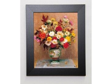 DYF Image encadrée Bouquet de dahlias 31x37 cm Multicolore