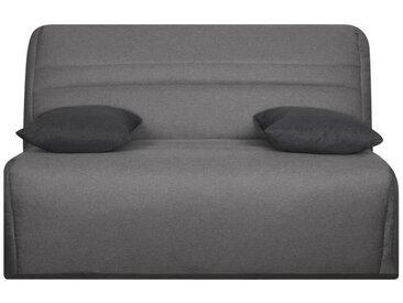 OPS 100% FRANCAIS - GALA Banquette BZ - Tissu Gris - Couchage quotidien - L142 x P96 x H90 cm