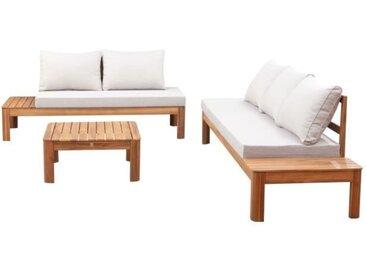 Salon de jardin SANA - En bois d'acacia FSC - 5 personnes avec coussins