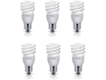 PHILIPS Lot de 6 ampoules fluo-compacte E27 15 W équivalent à 75 W