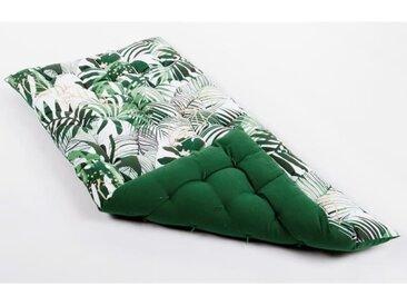 Matelas de sol souple 100% coton imprimé PARADISE 120x60x5cm - Vert
