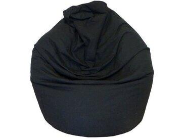 Poire pouf en coton LANA Ø75x110 cm noir