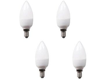 XQ-LITE Lot de 4 ampoules LED E14 flamme 5,5 W équivalent à 40 W