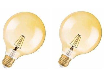 OSRAM Lot de 2 Ampoules LED Vintage Edition 1906 E27 Globe G125 7W équivalent à 54W blanc chaud dimmable variateur