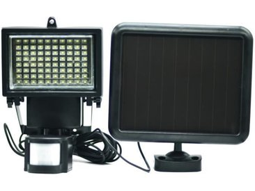 GALIX Spot solaire très éclairant avec détecteur de présence - 80 LED - Noir