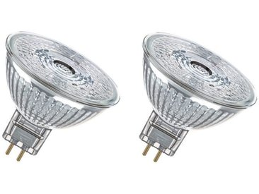 OSRAM Lot de 2 Ampoules spot LED MR16 GU5,3 5 W équivalent à 35 W blanc chaud dimmable