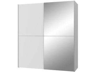ULOS Armoire 2 portes coulissantes + miroir - Blanc mat - L 170,3 x P 61,2 x H 190,5 cm