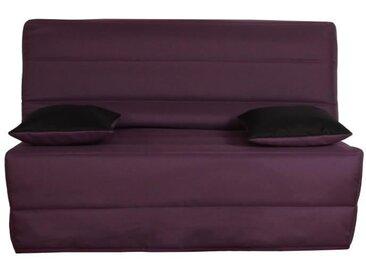 OPS 100% FRANCAIS - Banquette BZ 3 places LIOM - Tissu prune - L 142 x P 96 cm