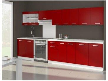 ULTRA Cuisine complète avec plan de travail L 3m20 - Rouge mat