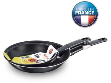 TEFAL B3049902  Lot de 2 poêles 26/30 cm First Cook - Noir