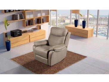 NEW ORLEANS Fauteuil de relaxation électrique - Tissu Gris - L 90 x P 97 x H 102 cm