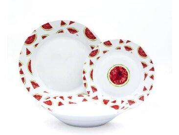 Service de table - 18PCS - En porcelaine - Gamme Pasteque