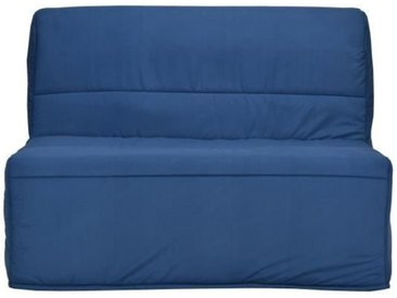 BULTEX Banquette BZ EVA 120x190 cm  - Tissu Marine - L 122 x P 101 x P 95 cm