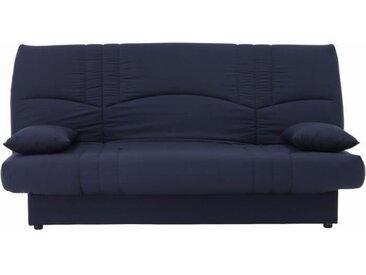 Banquette clic clac 3 places - Tissu bleu foncé -  Style Contemporain - L 190 x P 92 cm - DREAM