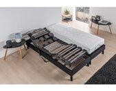 DEKO DREAM Ensemble Relaxation Matelas mousse 2x90x200 + Sommier TPR avec Plots top confort