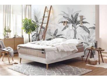 PACK prêt à dormir BOBOCHIC ESQUIS Matelas 140x190 +  Sommier + Surmatelas + Couette et Oreillers - 24 cm