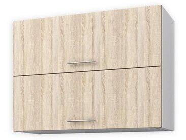 OBI Meuble haut de cuisine L 80 cm - Décor chêne clair