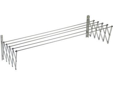 SAUVIC Séchoir à linge extensible inoxydable - 140 cm