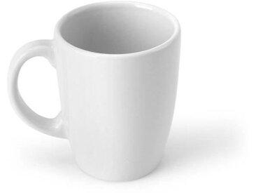 Lot 6 mugs en faience 30cL - blanc