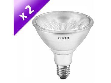 OSRAM Lot de 2 Ampoules spot LED E27 PAR38 14 W équivalent à 116 W blanc chaud dimmable variateur