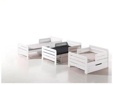 JUMPER Lit évolutif enfant avec tiroir blanc