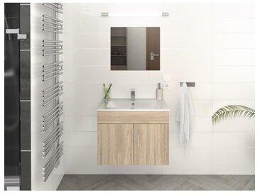 LIMA Ensemble salle de bain simple vasque L 60 cm - Décor chêne sonoma