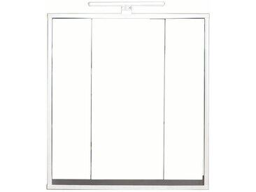 SOL Armoire de toilette L 67 cm - Blanc mat