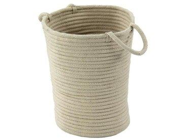 Panier Tamtam - 100% coton - 45x40x30 cm - Beige écru