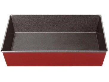 IMF Plat à four sans rebord Rioja - 31 x 19 x 6 cm - Rouge et gris