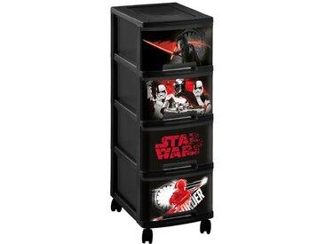 CURVER Tour de rangement à roulette Star Wars 10 L - 4 tiroirs A4 - Noir