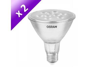 OSRAM Lot de 2 Ampoules spot LED E27 PAR30 8 W équivalent à 77 W blanc chaud dimmable variateur