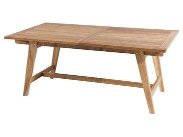 Table rectangulaire en teck style scandi - Extensible - 180 / 240 x 100 cm JARDITECK